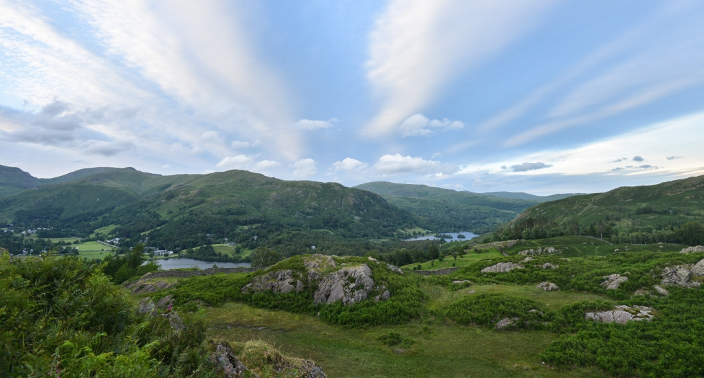 Looking down into Grasmere from Silver How