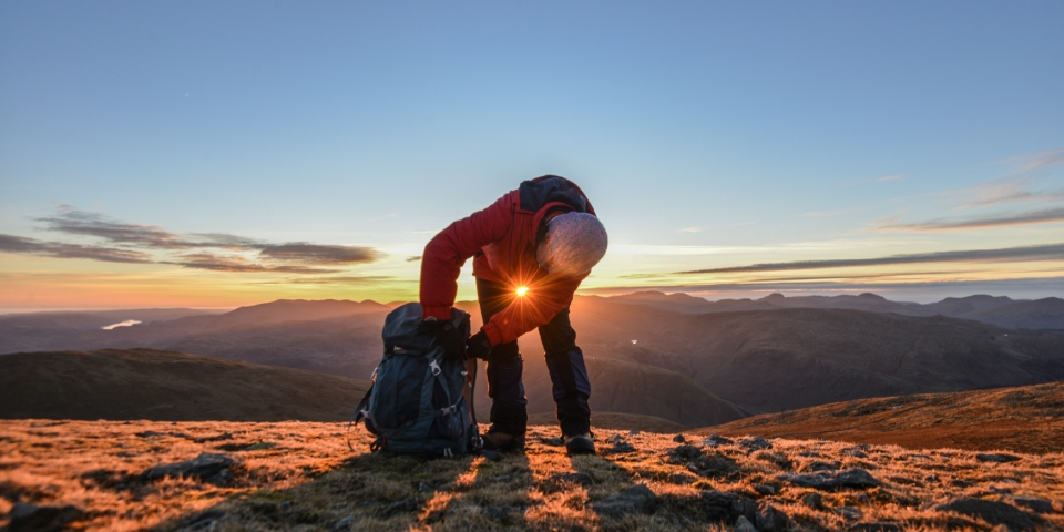 Packing up to come off the high ridges before sunset