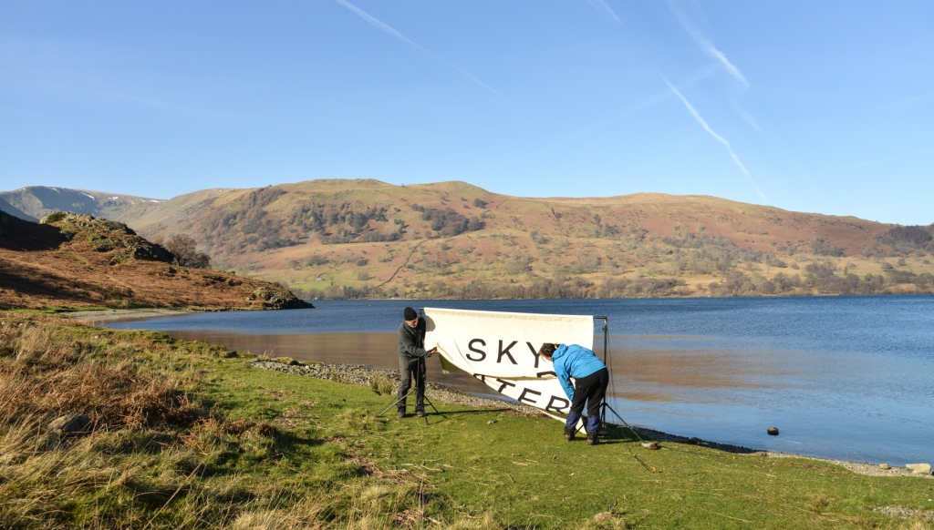 putting up Sky Land Water