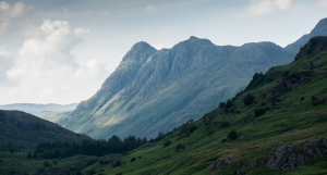 Dramatic light on the Langdale Pikes