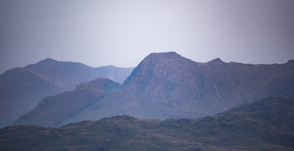 Langdale Pikes from Butter Crag early morning