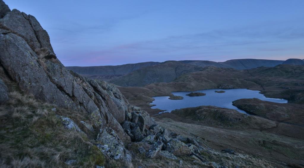 After sunset on Angle Tarn