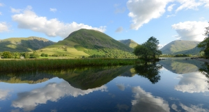 Reflections in Brotherswater of Hartsop Dodd