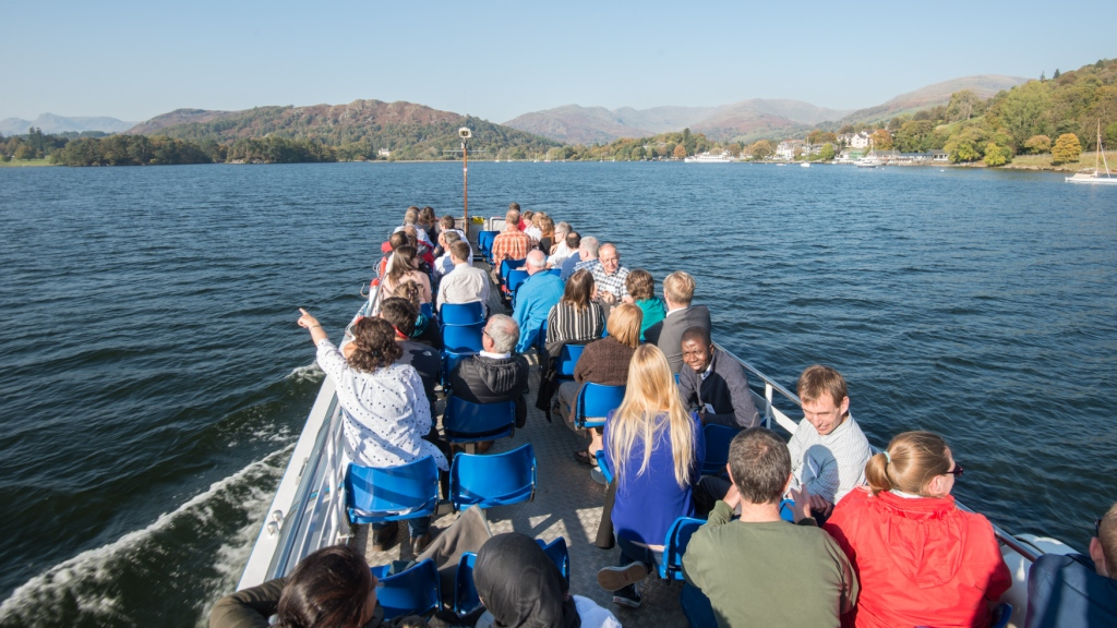 On Windermere with Ensemble, a team of environmental and data specilaists looking at ways of communicating climate change through a five year fellowship program.