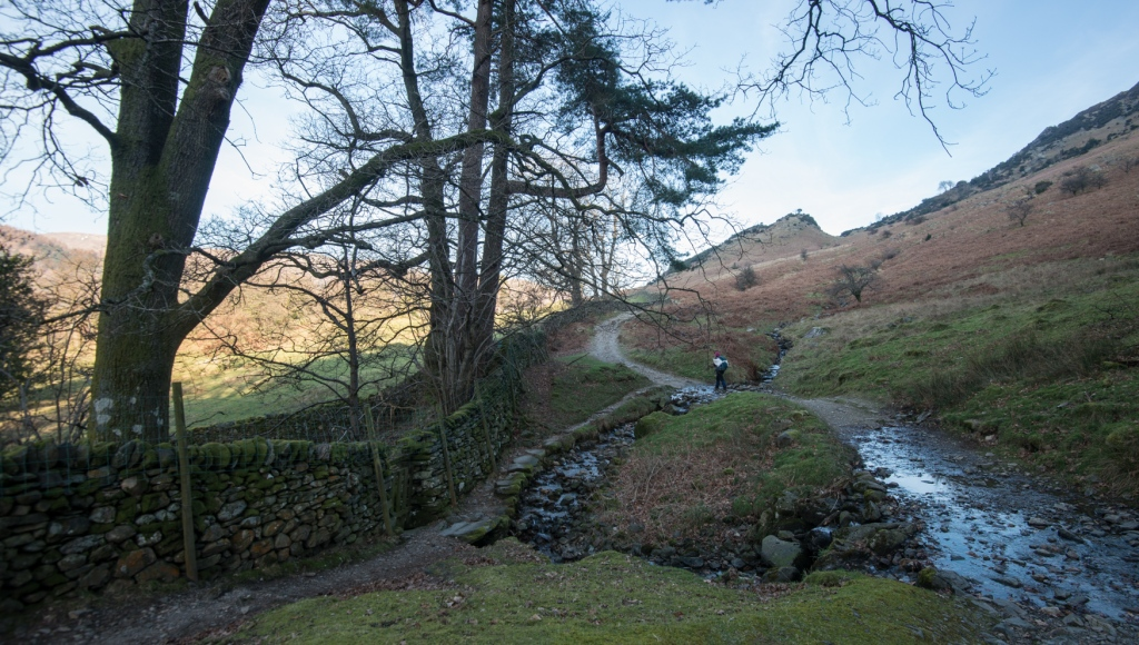 Heading up into the fells to place Sky Land Water