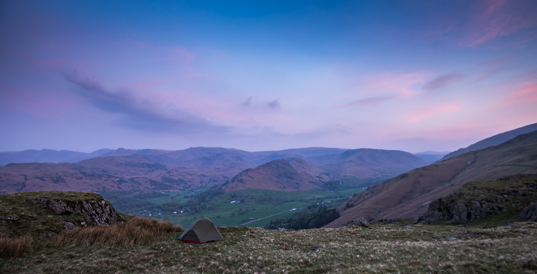 Not a bad place to take in the dawn arriving in the Grasmere Valley.