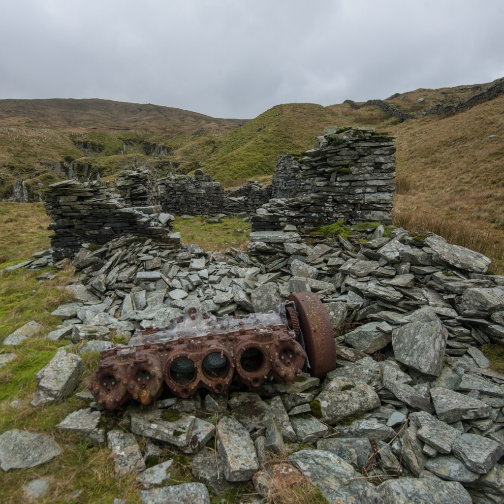 Old mine workings at Wren Gill at the top end of Long Sleddale.