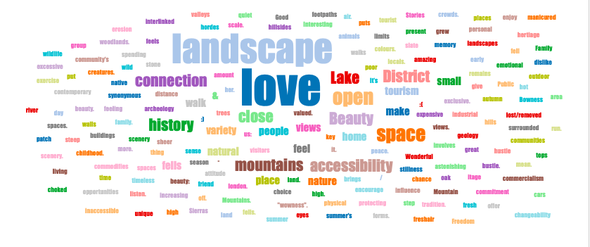 What matters about green and open spaces? A word cloud of responses