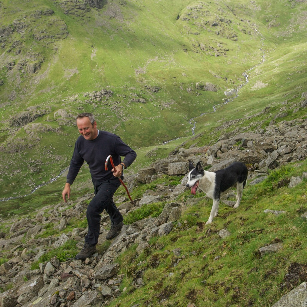 Hill farmer Anthony Hartley takes us across land below Coniston Old Man as part of a gather in August of 2012. This was a real lightbulb moment for us in terms of understanding the landscape in another way.