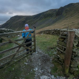 Closing the fell gate at Longsleddale Head